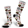 Fire Fighter Socks, Hero Socks, Photo socks for Firefighter, Fireman Wife Socks, Face Socks, Picture on Socks
