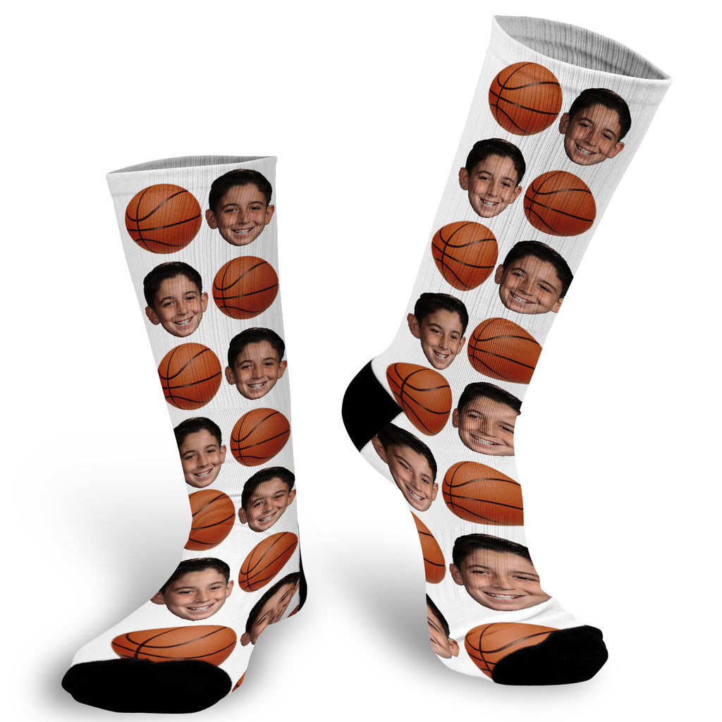 Basketball Socks, Sports Socks, Photo socks for Basketball Team, Basketball Child Socks, Face Socks, Picture on Socks