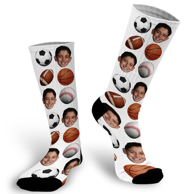 Sports Face Socks