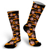 tiger, tiger stripes, animal print, photo sock, photo socks, custom photo socks, face sock, face socks, funny socks, picture on sock, stocking stuffer