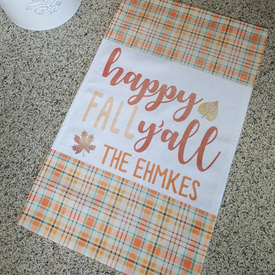 Fall Towels, Kitchen Towels, Plaid Towels, Decorative Towels, Seasonal Towels,