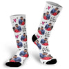 Valentine's Day Face Socks with hearts, Valentines Day Picture Socks, Fun I love you Socks, Custom Face Socks, Photo Socks