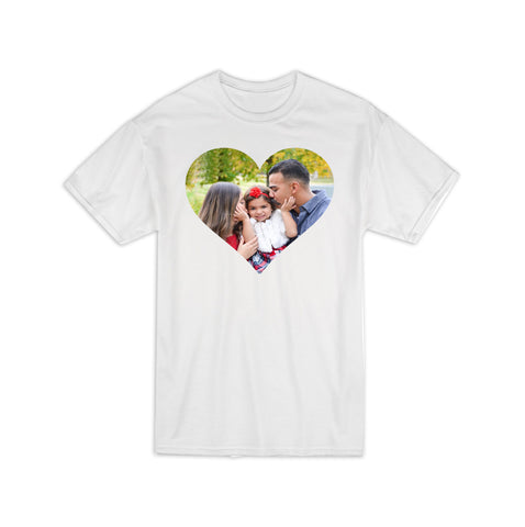 Custom Heart Photo Shirt, Custom Shirt, Photo Face Shirt, Custom Face Shirt, Custom Photo Shirt, Personalized Photo Shirt, Custom T-Shirt, Personalized Shirt, Custom T-Shirt