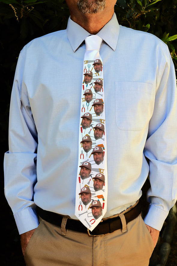 "Photo Tie, Father's Day Tie, Dad Tie, Custom Tie, Personalized Tie ""Tools"""