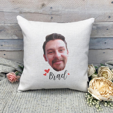 Custom Photo Pillowcase, Linen Pillowcase, Personalized Photo Pillowcase, Picture Pillowcase, Custom Pillow Cover