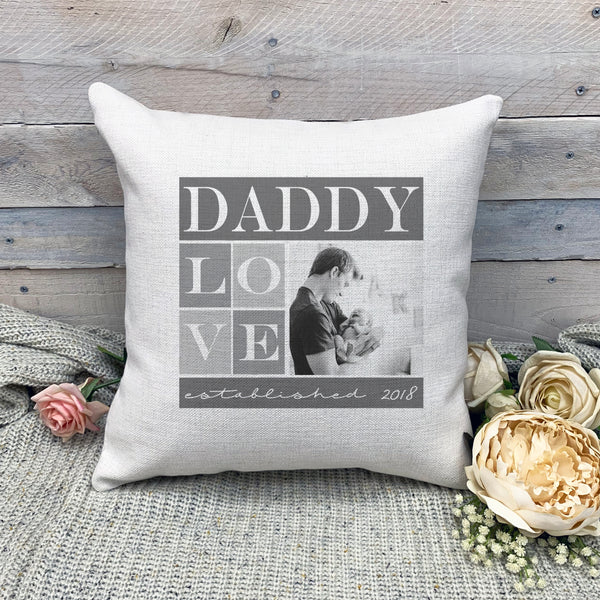 Custom Daddy Pillowcase, Custom Photo Pillowcase, Picture Pillowcase, Linen Pillowcase, Personalized Photo Pillowcase, Custom Pillow Cover