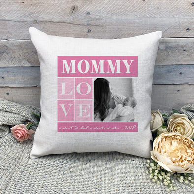 Custom Mommy Pillowcase, Custom Photo Pillowcase, Picture Pillowcase, Linen Pillowcase, Personalized Photo Pillowcase, Custom Pillow Cover