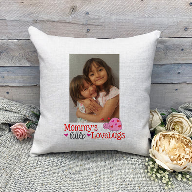 Mommy's Lovebug Pillowcase, Custom Photo Pillowcase, Mother's Day, Valentine Pillowcase, Linen Pillowcase, Personalized Photo Pillowcase, Picture Pillowcase, Custom Pillow Cover