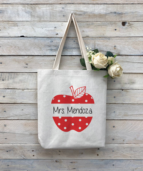 "Custom Teacher Tote Bag, Teacher Bag, Personalized Tote Bag ""Mrs Mendoza"""