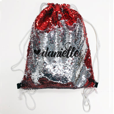 Reversible Sequin Drawstring Bag, Personalized Sequin Bag