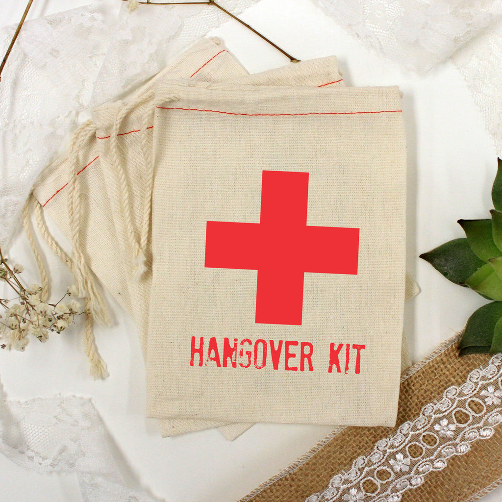 "Muslin Bag - ""Hangover Kit"" - Set of 25"