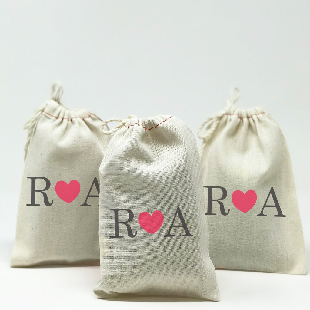 Personalized Favor Bags With Initials