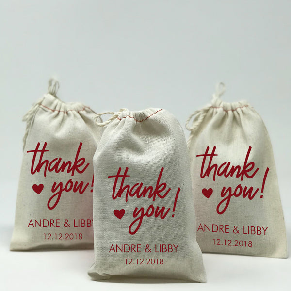 Let Love Grow Custom Favor Bags