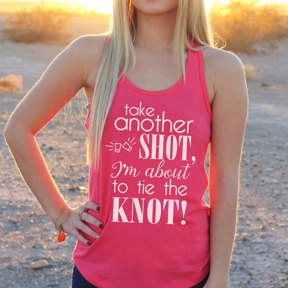 "Women's Razor Back Tank Top ""Take Another Shot"""