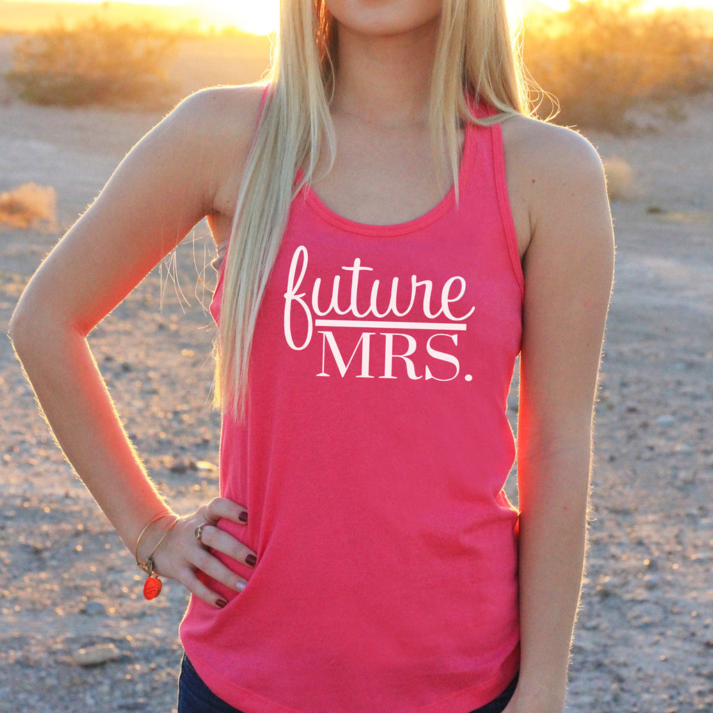"Women's Razor Back Tank Top ""Future Mrs"""