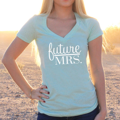 "Women's V-Neck T-Shirt ""Future Mrs"""