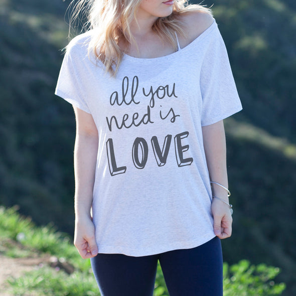 "Women's Graphic Tee ""All you need is Love"""