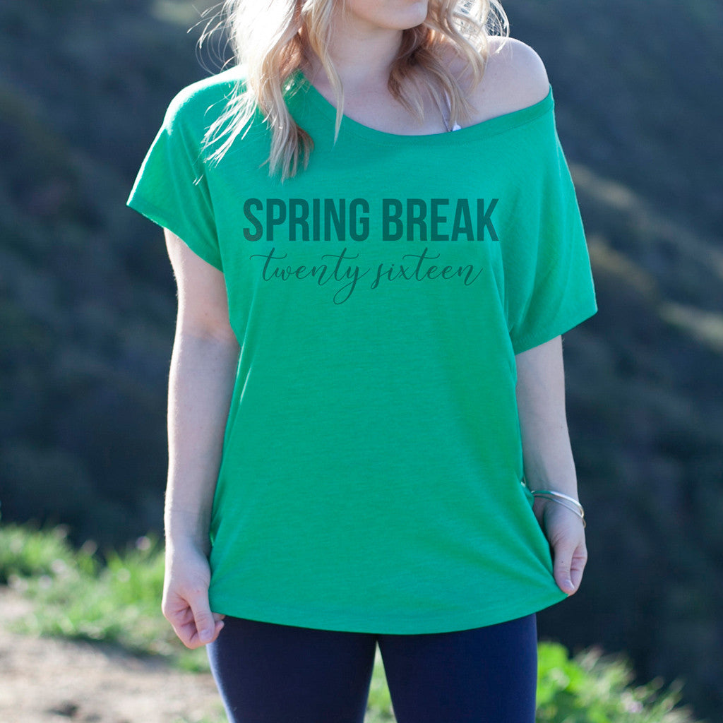 "Women's Graphic Tee ""Spring Break 2016"""