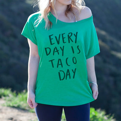 "Women's Graphic Tee ""Everyday is Taco day"""