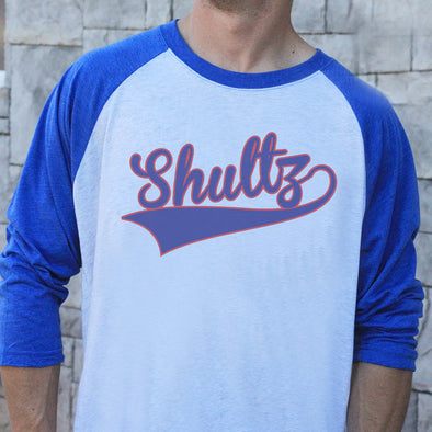 "Men's Baseball Tee ""Shultz Baseball Font"""