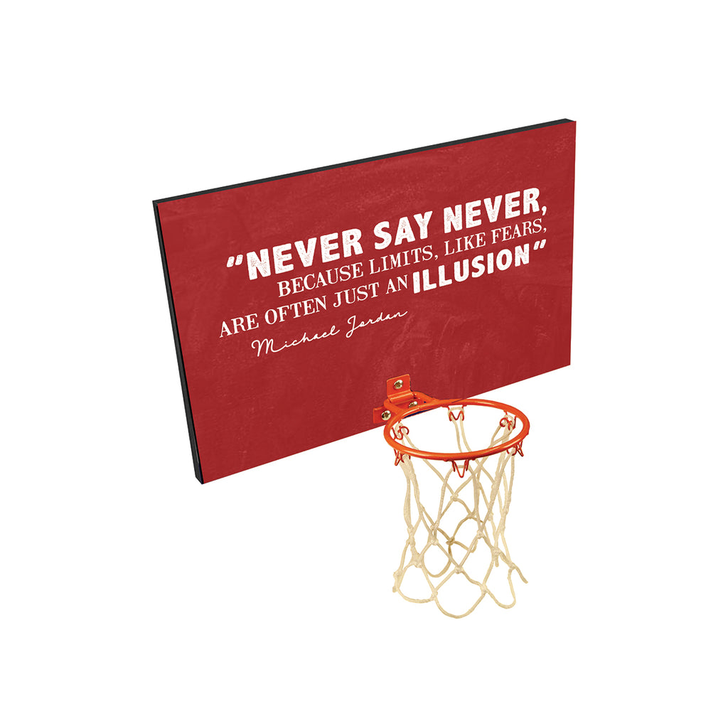 Never Say Never Personalized Basketball Board