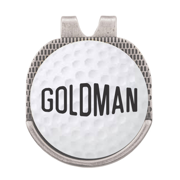 Personalized Last Name Golf Marker Hat Clip