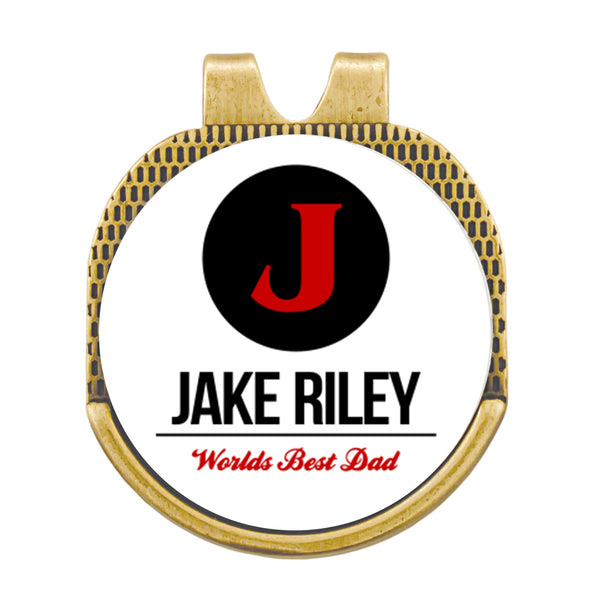 Custom Name With Initial Hat Ball Marker