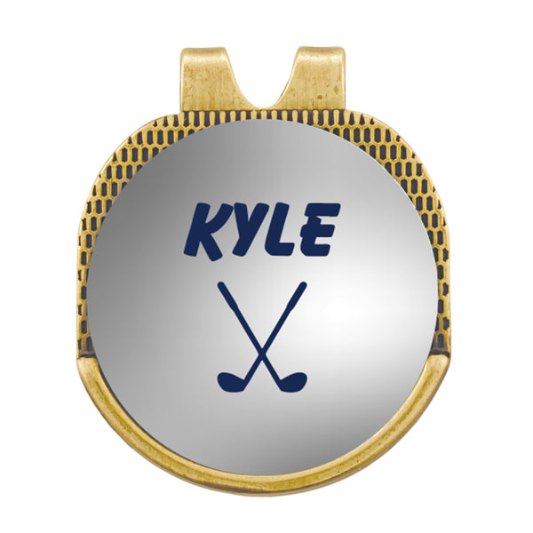 Custom Name Hat Clip Golf Marker