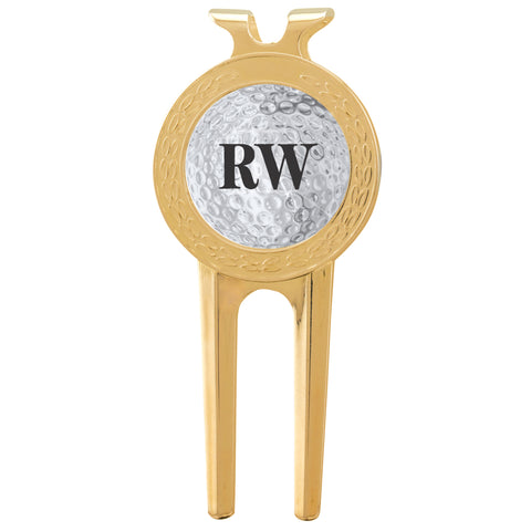 Ball Marker Divot Tool With Initials