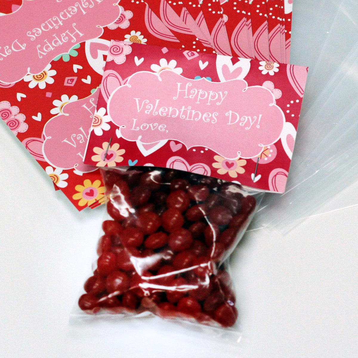 Valentine Cards With Goodie Bags Set Of 20 Happy Valentines Day