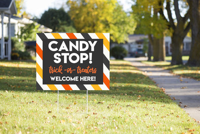 CANDY STOP! YARD SIGN