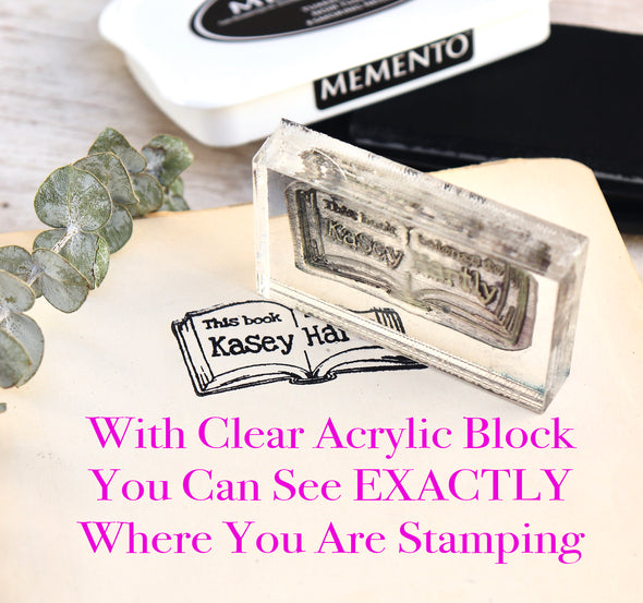 Acrylic Block Stamper, Clear Acrylic Block Stamper