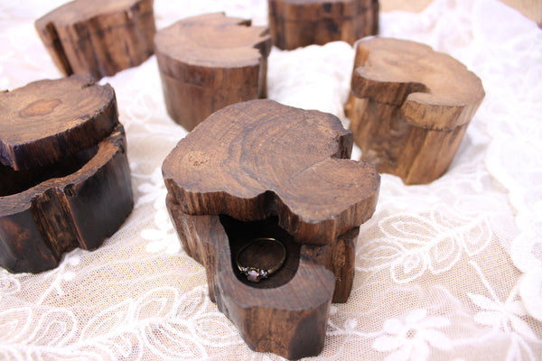 Wood Ring Box Stamp Out