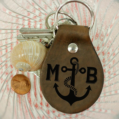 "Personalized Engraved Key Chain - ""Anchor"""
