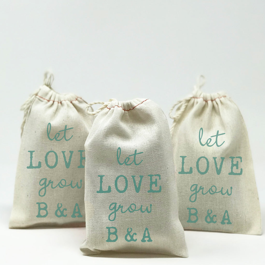 Let Love Grow Wedding Favor Bags