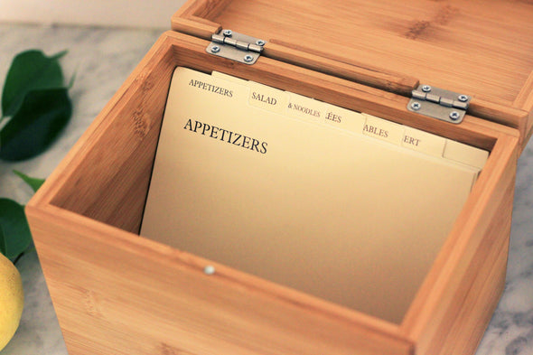"Custom Engraved Recipe Box, Personalized Recipe Box, ""Walker"""