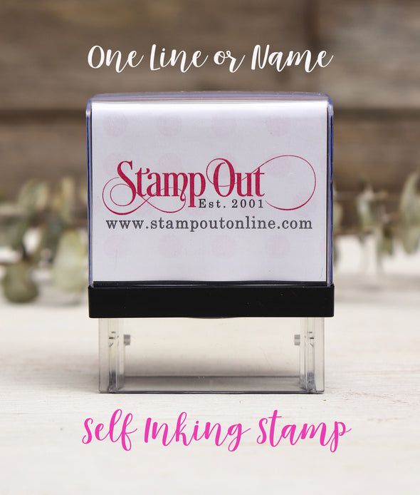 Self Inking Stamper for One line stamps