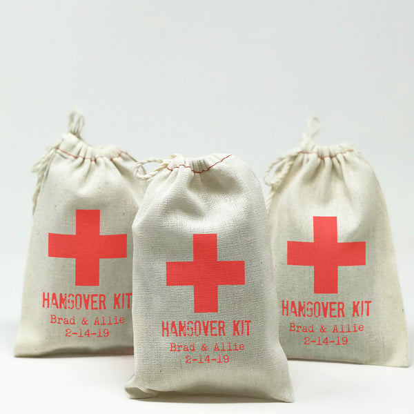 Personalized Hangover Kit Favor Bags