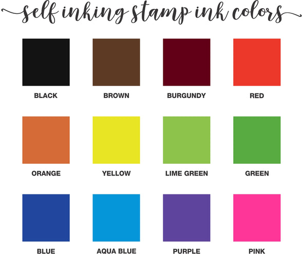 Self Inking Stamp Ink Colors