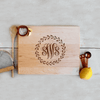 Custom Maple Cutting Board, Personalized Monogram