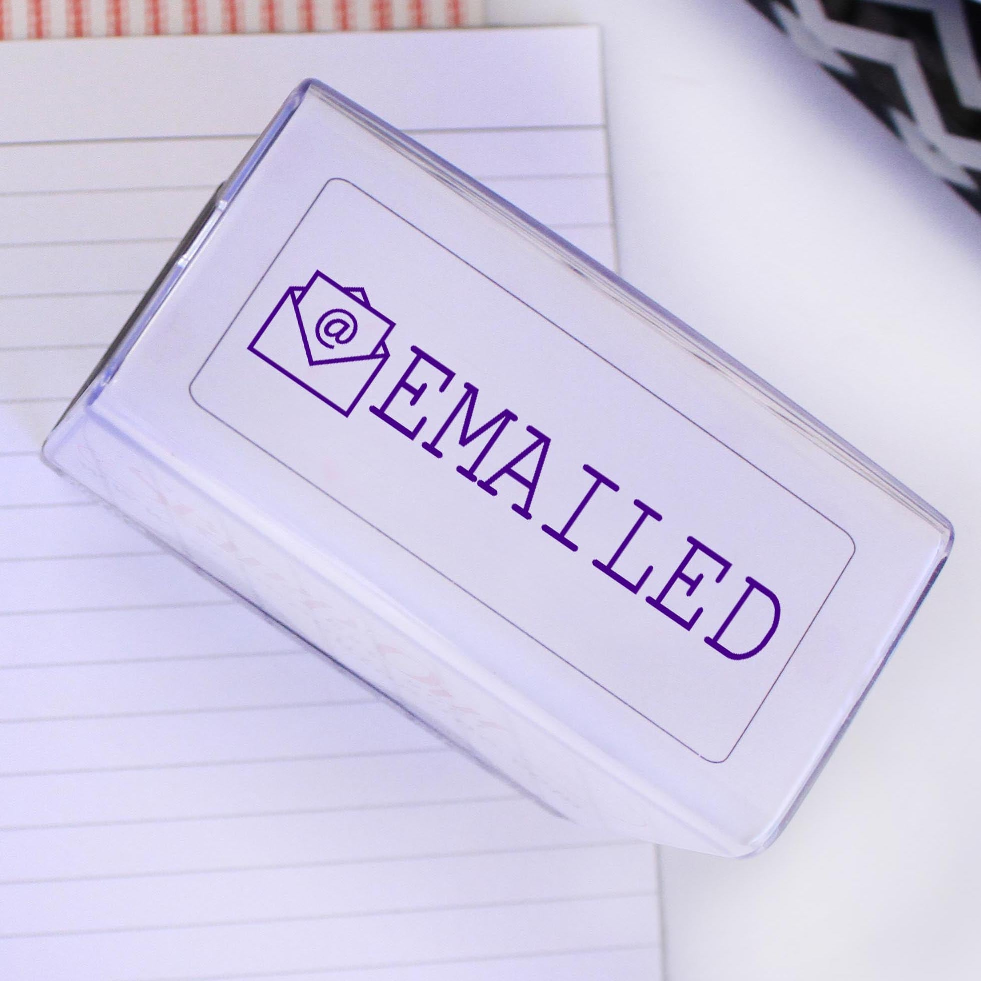 Rubber Self Inking EMAILED Stamp Out
