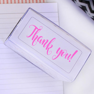 Self inking thank you stamp