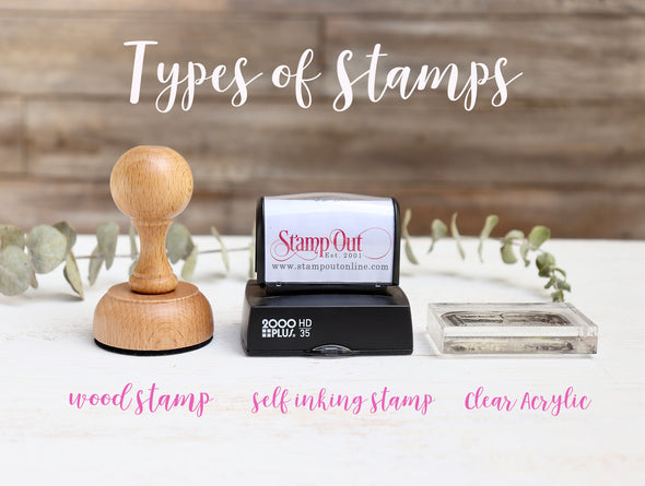 Types of Stamps, Types of Stamps at Stamp Out