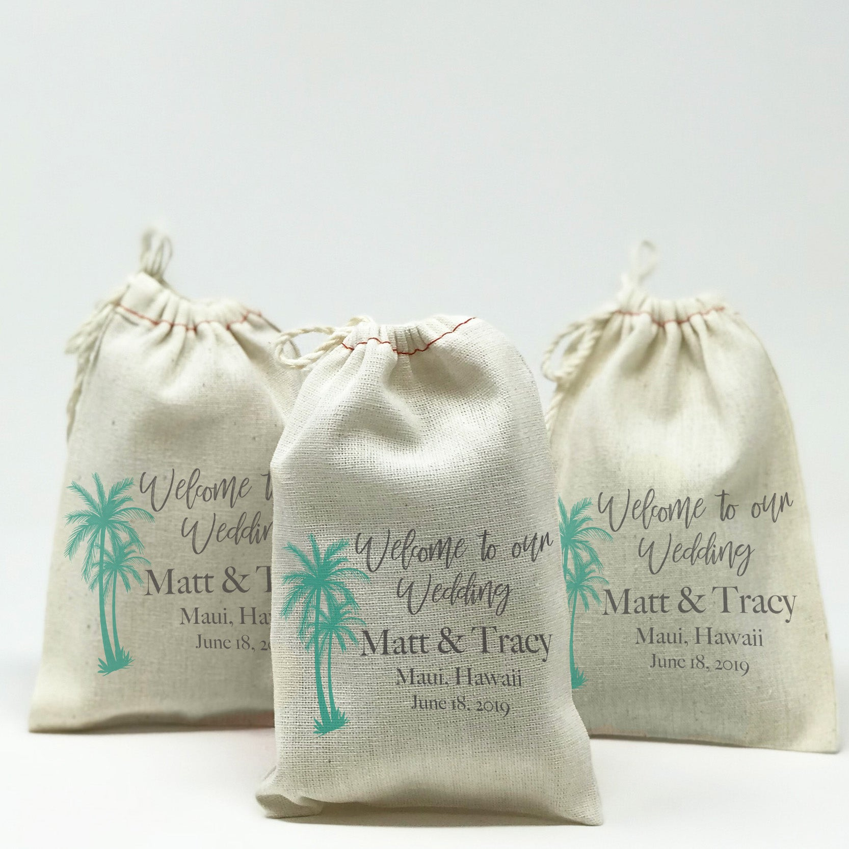 Personalized Wedding Favor Bags Stamp Out