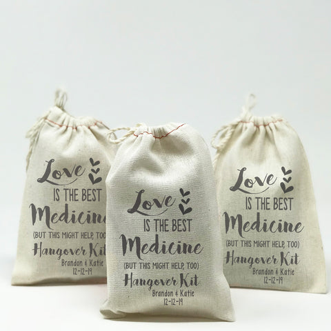 Love Is The Best Medicine Wedding Hangover Kit