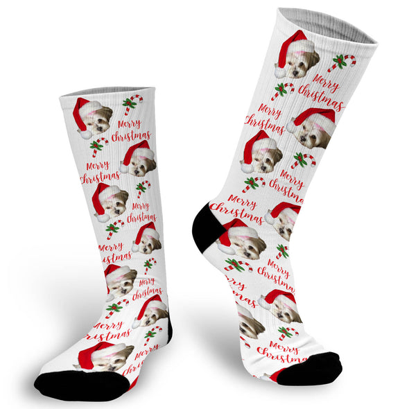 Christmas Socks, Christmas Face Socks, Photo socks for Christmas, Funny Christmas Socks, Face Socks