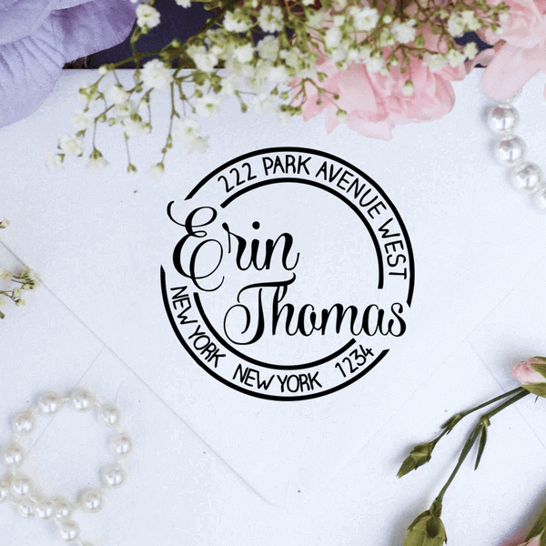"Return Address Stamp- ""Erin Thomas"""