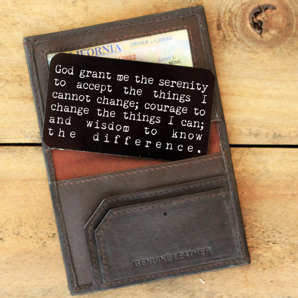 Wallet Note Insert - God Grant Me The Serenity