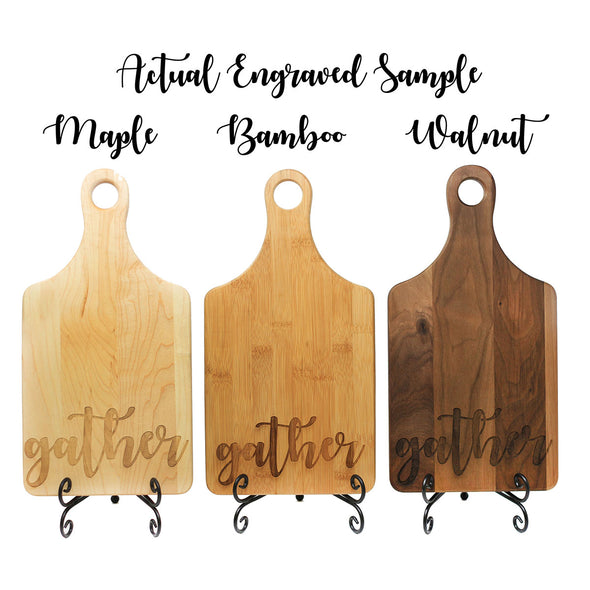 "Paddle Cutting Board ""Bickers Curly B"""