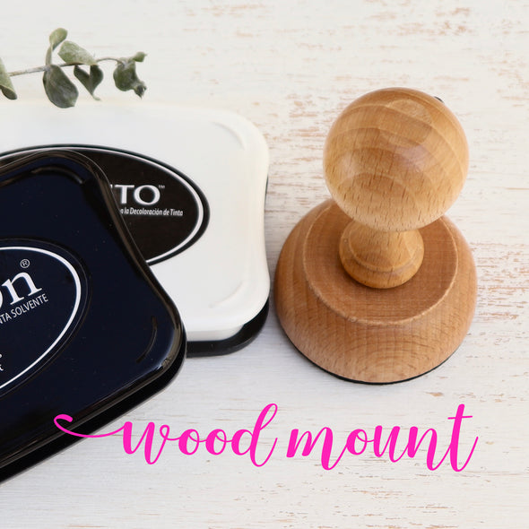 Wood Mount stamp
